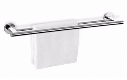 Zack Scala 66cm Double Towel Rail Polished Stainless Steel